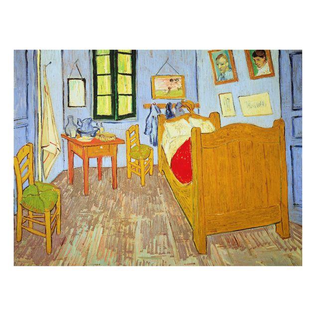 Produktfoto Alu-Dibond - Kunstdruck Vincent van Gogh - Van Goghs Schlafzimmer in Arles - Post-Impressionismus Quer 3:4