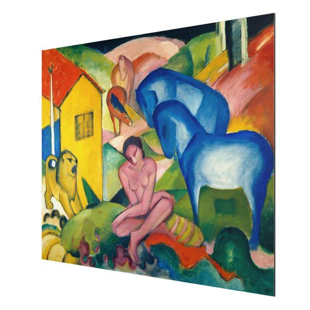 Produktfoto Alu-Dibond - Kunstdruck Franz Marc - Der Traum - Expressionismus Quer 3:4