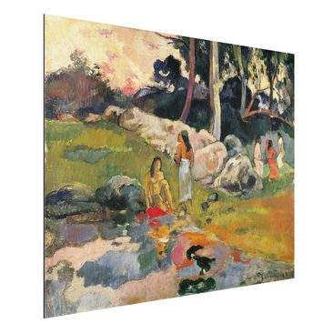 Produktfoto Alu-Dibond - Kunstdruck Paul Gauguin - Frauen an einem Flussufer - Post-Impressionismus Quer 3:4
