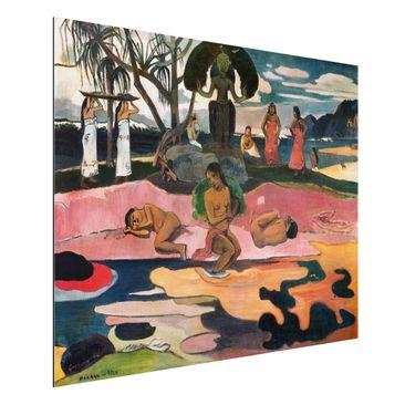 Produktfoto Alu-Dibond - Kunstdruck Paul Gauguin - Gottestag (Mahana No Atua) - Post-Impressionismus Quer 3:4