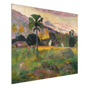 Produktfoto Alu-Dibond - Kunstdruck Paul Gauguin - Haere mai (Komm her) - Post-Impressionismus Quer 3:4