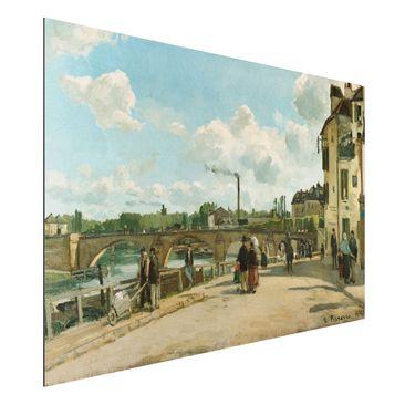 Produktfoto Alu-Dibond - Kunstdruck Camille Pissarro - Ansicht von Pontoise - Impressionismus Quer 2:3
