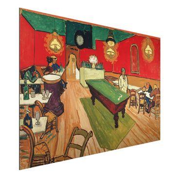 Produktfoto Alu-Dibond - Kunstdruck Vincent van Gogh - Das Nachtcafé - Post-Impressionismus Quer 2:3