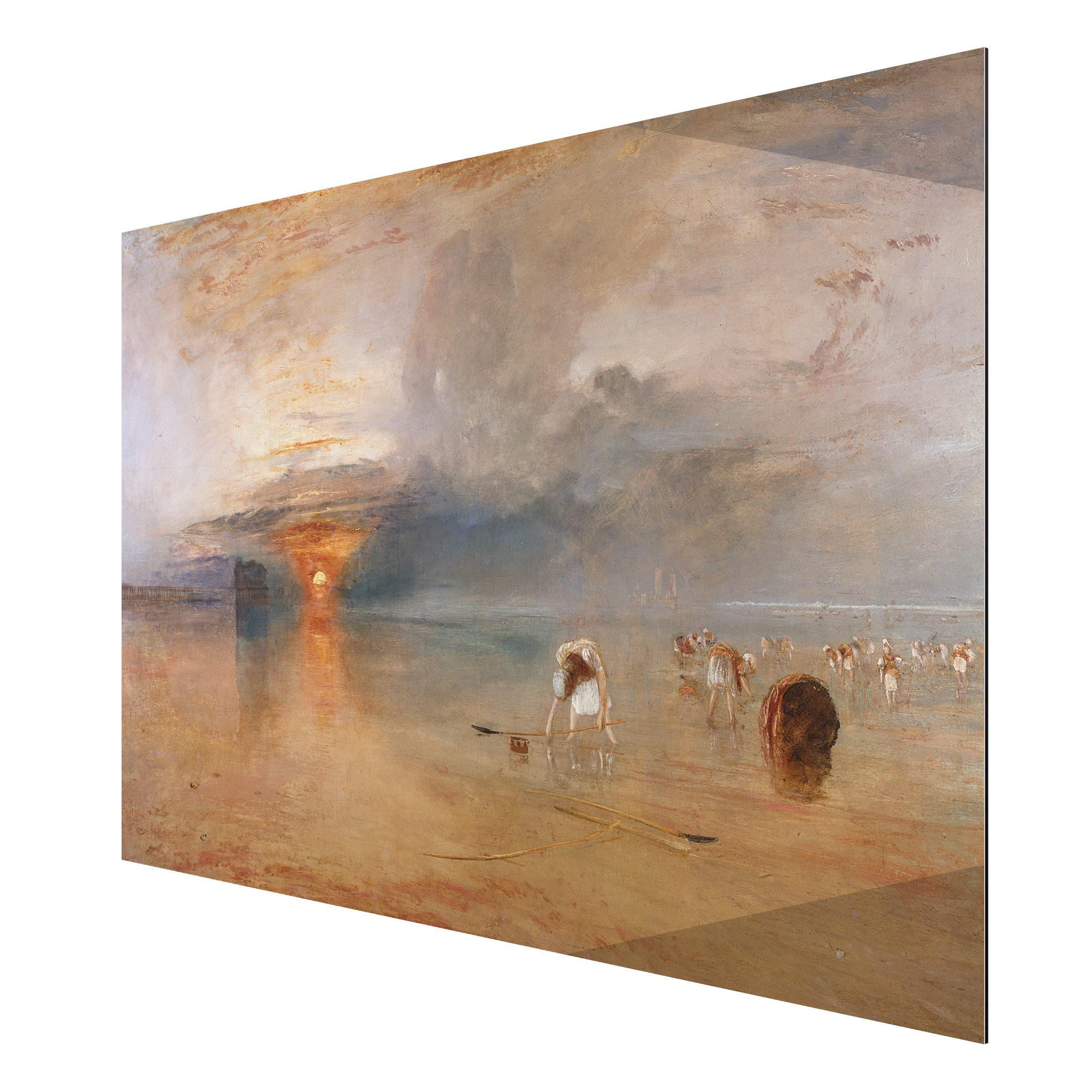 alu dibond kunstdruck william turner strand bei calais fischerfrauen sammeln k der ein. Black Bedroom Furniture Sets. Home Design Ideas