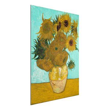 Produktfoto Alu-Dibond - Kunstdruck Vincent van Gogh - Vase mit Sonnenblumen - Post-Impressionismus Hoch 4:3