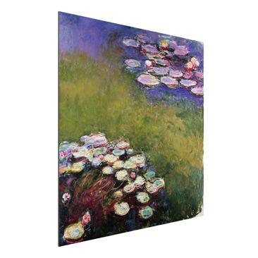 Produktfoto Alu-Dibond - Kunstdruck Claude Monet - Seerosen - Impressionismus Quadrat 1:1