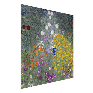 Produktfoto Alu-Dibond - Kunstdruck Gustav Klimt - Bauerngarten - Jugendstil Quadrat 1:1