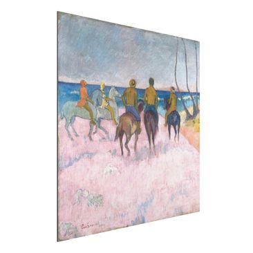 Produktfoto Alu-Dibond - Kunstdruck Paul Gauguin - Reiter am Strand (I) - Post-Impressionismus Quadrat 1:1