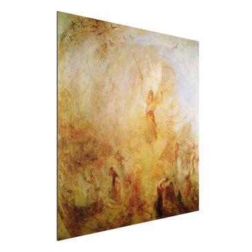 Produktfoto Alu-Dibond - Kunstdruck William Turner - Der Engel vor der Sonne - Romantik Quadrat 1:1