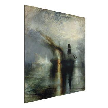 Produktfoto Alu-Dibond - Kunstdruck William Turner - Frieden. Beisetzung auf See - Romantik Quadrat 1:1