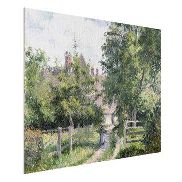 Produktfoto Alu-Dibond gebürstet - Kunstdruck Camille Pissarro - Saint-Martin bei Gisors - Impressionismus Quer 3:4