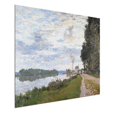 Produktfoto Alu-Dibond gebürstet - Kunstdruck Claude Monet - Die Uferpromenade bei Argenteuil - Impressionismus Quer 3:4
