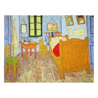 alu dibond kunstdruck vincent van gogh van goghs schlafzimmer in arles post. Black Bedroom Furniture Sets. Home Design Ideas