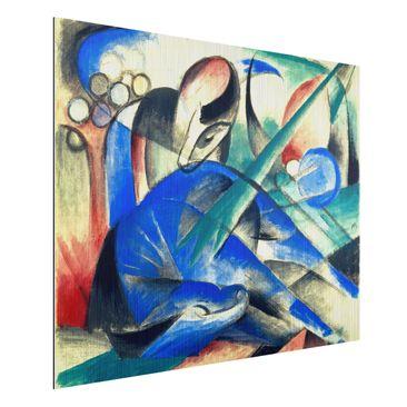 Produktfoto Alu-Dibond gebürstet - Kunstdruck Franz Marc - Träumendes Pferd - Expressionismus Quer 3:4