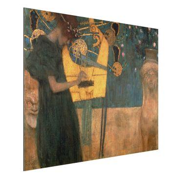 Produktfoto Alu-Dibond gebürstet - Kunstdruck Gustav Klimt - Die Musik - Jugendstil Quer 3:4