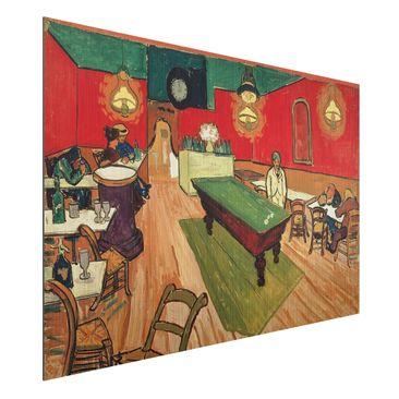 Produktfoto Alu-Dibond gebürstet - Kunstdruck Vincent van Gogh - Das Nachtcafé - Post-Impressionismus Quer 2:3