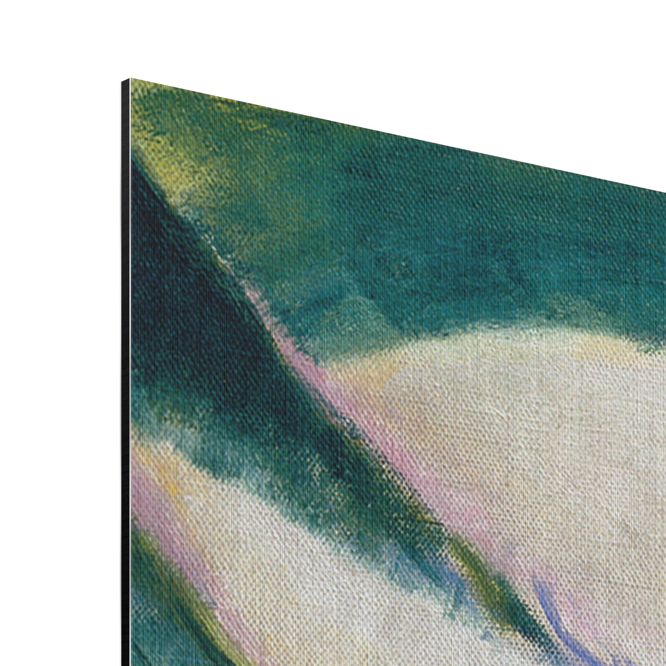 alu dibond geb rstet kunstdruck franz marc liegender hund im schnee expressionismus quer 2 3. Black Bedroom Furniture Sets. Home Design Ideas