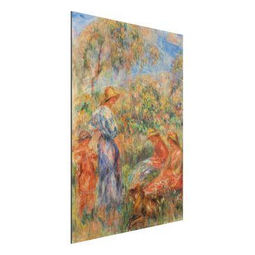 Immagine del prodotto Stampa su alluminio spazzolato - Auguste Renoir - Tre Donne e Bambini in un Paesaggio - Impressionismo - Verticale 4:3