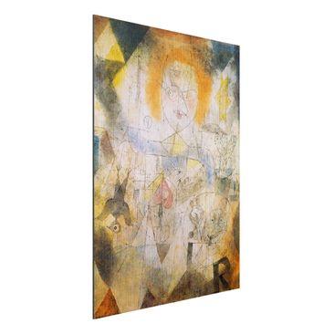 Produktfoto Alu-Dibond gebürstet - Kunstdruck Paul Klee - Irma Rossa, die Bändigerin - Expressionismus Hoch 4:3