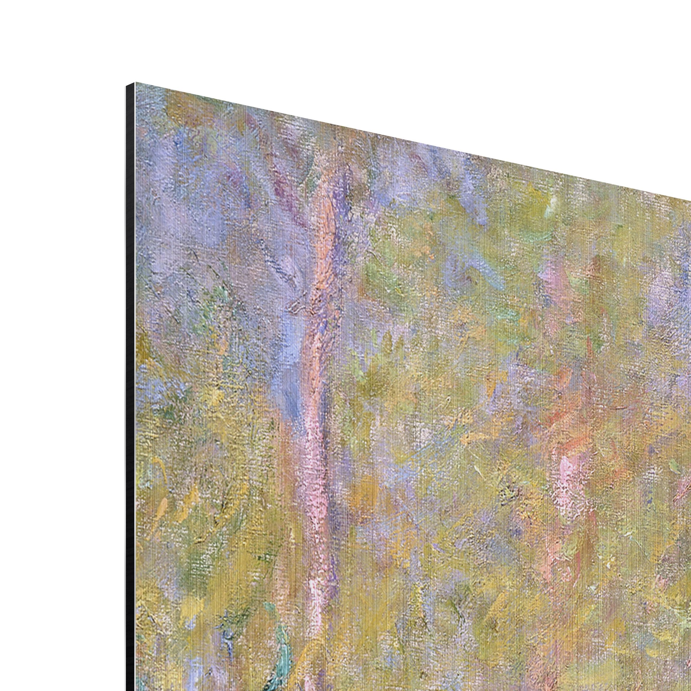 alu dibond geb rstet kunstdruck claude monet br cke in monets garten impressionismus. Black Bedroom Furniture Sets. Home Design Ideas