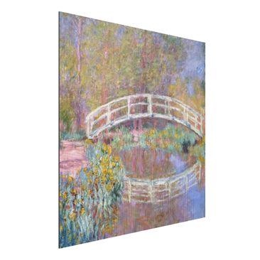 Immagine del prodotto Stampa su alluminio spazzolato - Claude Monet - Il Ponte nel Giardino di Monet - Impressionismo - Quadrato 1:1
