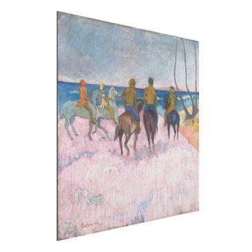 Immagine del prodotto Stampa su alluminio spazzolato - Paul Gauguin - Cavalieri sulla Spiaggia (I) - Post-Impressionismo - Quadrato 1:1