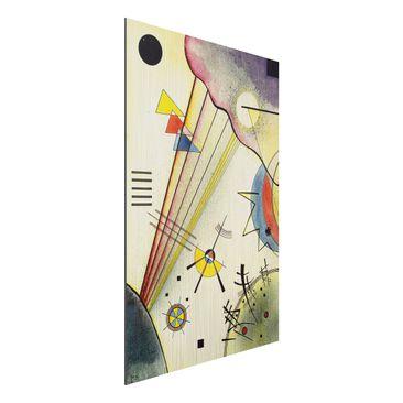 Produktfoto Alu-Dibond gebürstet - Kunstdruck Wassily Kandinsky - Deutliche Verbindung - Expressionismus Hoch 3:2