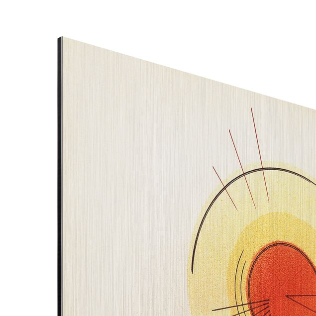 alu dibond geb rstet kunstdruck wassily kandinsky strahlenlinien expressionismus hoch 3 2. Black Bedroom Furniture Sets. Home Design Ideas