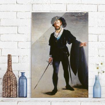 Produktfoto Glasbild - Kunstdruck Edouard Manet - Der Sänger Jean-Baptiste Faure als Hamlet - Hoch 3:2