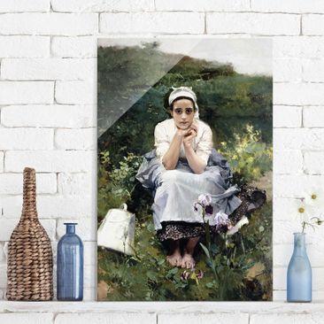 Produktfoto Glasbild - Kunstdruck Joaquin Sorolla - Das Milchmädchen - Hoch 3:2