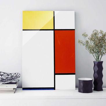 Produktfoto Glasbild - Kunstdruck Piet Mondrian - Komposition I - Hoch 3:2