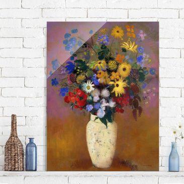 Immagine del prodotto Quadro in vetro - Odilon Redon - White Vase with Flowers - Verticale 4:3