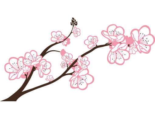 Produktfoto Wandtattoo No.TA63 Cherry Blossoms Big