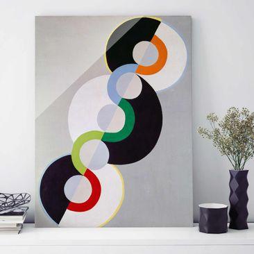 Produktfoto Glasbild - Kunstdruck Robert Delaunay - Endloser Rhythmus - Hoch 4:3