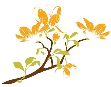 Product picture Wall Decal no.FB2 Magnolia