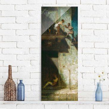Immagine del prodotto Stampa su vetro - Carl Spitzweg - Pierrot and Columbine - Pannello
