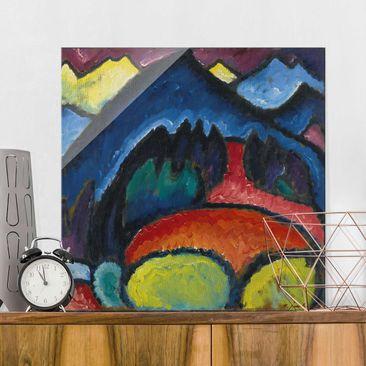 Immagine del prodotto Stampa su vetro - Alexej von Jawlensky - Oberstdorf - Mountains - Quadrato 1:1