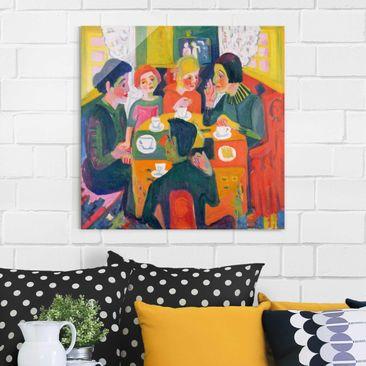 Produktfoto Glasbild - Kunstdruck Ernst Ludwig Kirchner - Kaffeetisch - Quadrat 1:1