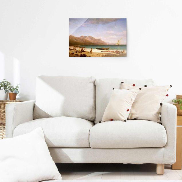 Produktfoto Glasbild - Kunstdruck Albert Bierstadt - Der Golf von Salerno - Quer 2:3