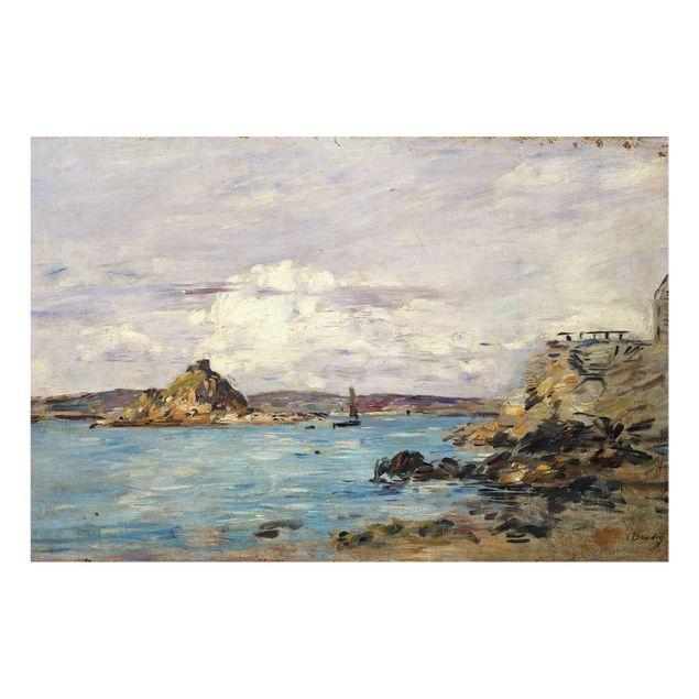 Produktfoto Glasbild - Kunstdruck Eugène Boudin - Douarnenez: Die Bucht (Skizze) - Quer 2:3