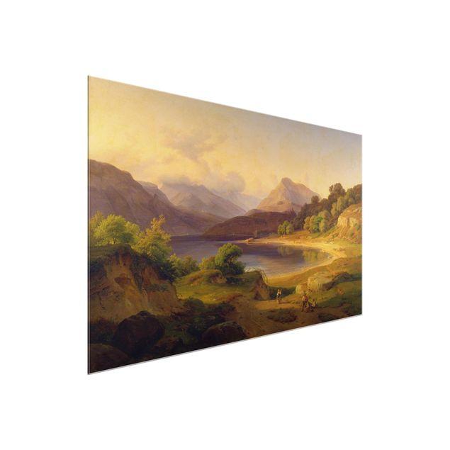 Produktfoto Glasbild - Kunstdruck Louis Gurlitt - Der nördliche Teil des Gardasees - Quer 2:3