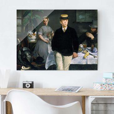Immagine del prodotto Stampa su vetro - Edouard Manet - Luncheon in the Studio - Orizzontale 3:4