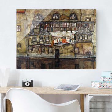 Immagine del prodotto Stampa su vetro - Egon Schiele - House...