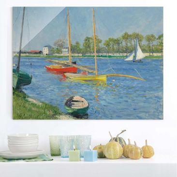 Produktfoto Glasbild - Kunstdruck Gustave Caillebotte - Die Seine bei Argenteuil - Quer 3:4
