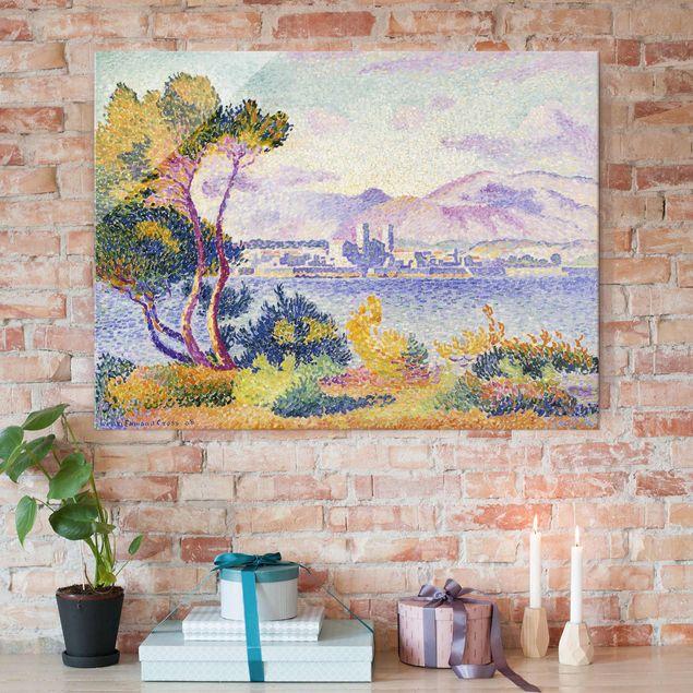 Produktfoto Glasbild - Kunstdruck Henri Edmond Cross - Antibes, Nachmittags - Pointillismus - Quer 3:4