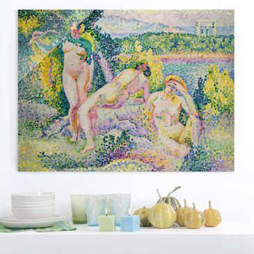 Produktfoto Glasbild - Kunstdruck Henri Edmond Cross - Nymphes - Pointillismus - Quer 3:4