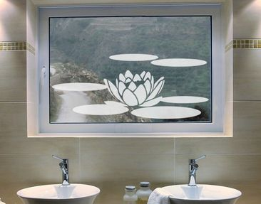 Product picture Window Sticker no.UL68 Waterlilly