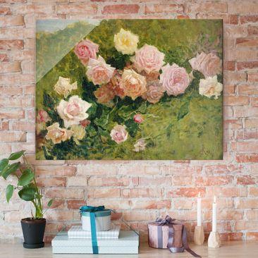 Produktfoto Glasbild - Kunstdruck Luigi Rossi - Rosenstudie - Quer 3:4