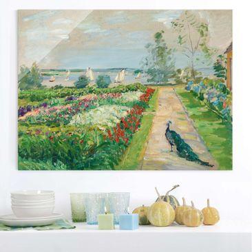 Immagine del prodotto Quadro in vetro - Max Slevogt - Flower Garden in New-Cladow - Orizzontale 3:4