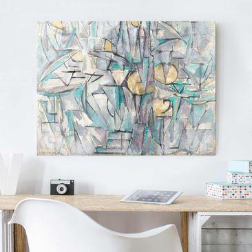 Produktfoto Glasbild - Kunstdruck Piet Mondrian - Komposition X - Quer 3:4